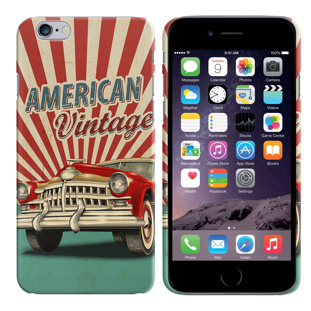Apple Iphone 6 Plus 5.5 inch iPhone 6s Plus 5.5 inch 2nd Gen 2015 American Vintage Retro Car Back Cover Case