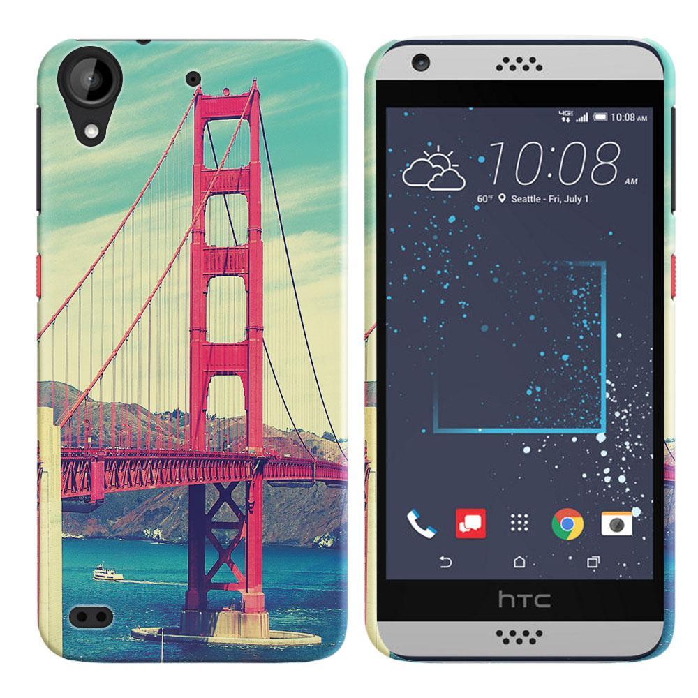 HTC Desire 530 630 Vintage Retro Golden Gate Bridge Back Cover Case