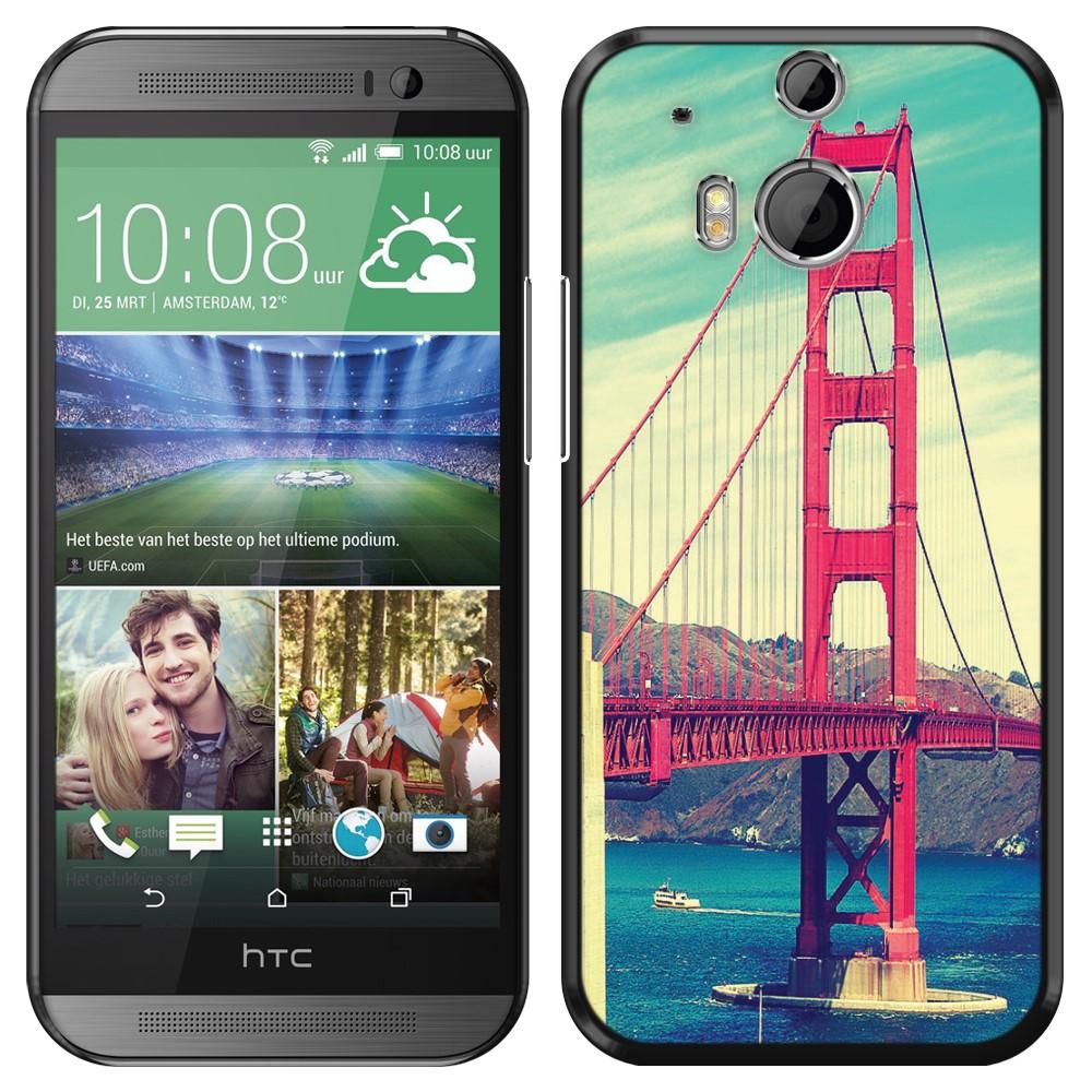 HTC One 2 M8 Vintage Retro Golden Gate Bridge SLIM FIT Back Cover Case