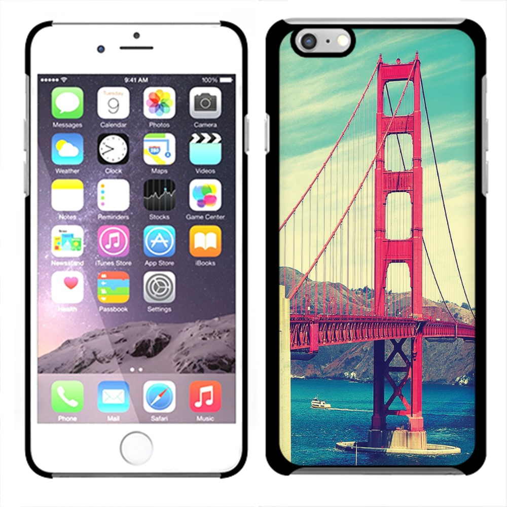Apple iPhone 6 4.7 inch iPhone 6s 4.7 inch 2nd Gen 2015 Vintage Retro Golden Gate Bridge SLIM FIT Back Cover Case