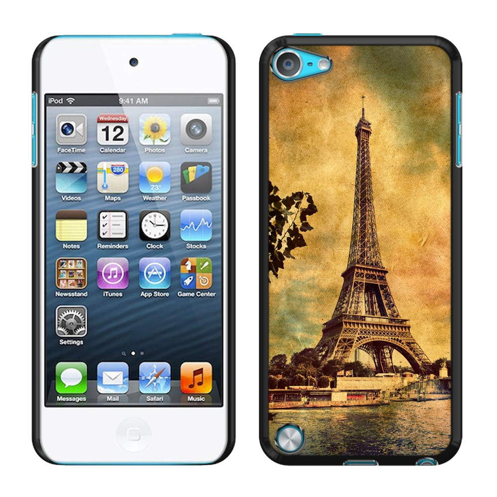 Apple iPod Touch 5 (5th Generation) iPod Touch 6 (6th Generation) Vintage Paris Eiffel Tower River SLIM FIT Back Cover Case