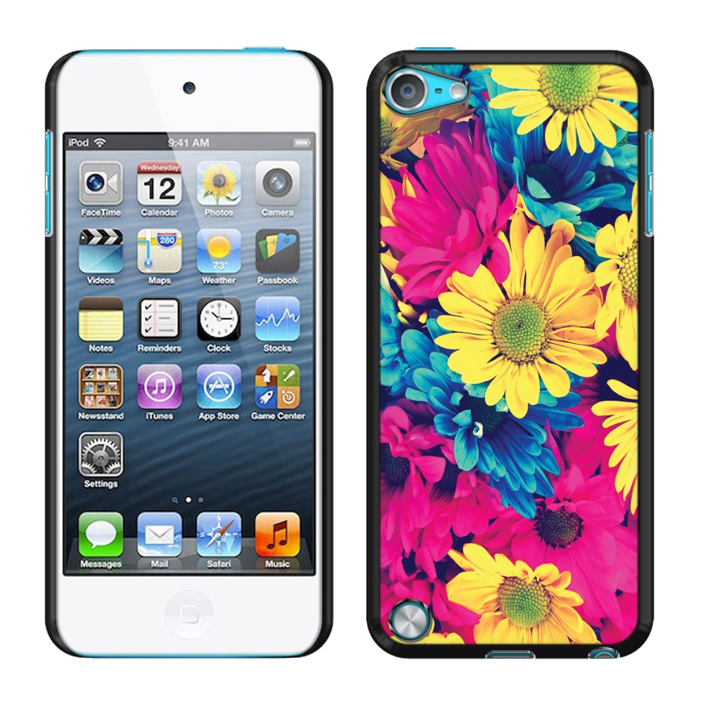 Apple iPod Touch 5 (5th Generation) iPod Touch 6 (6th Generation) Vintage Retro Colorful Daisy Flowers SLIM FIT Back Cover Case