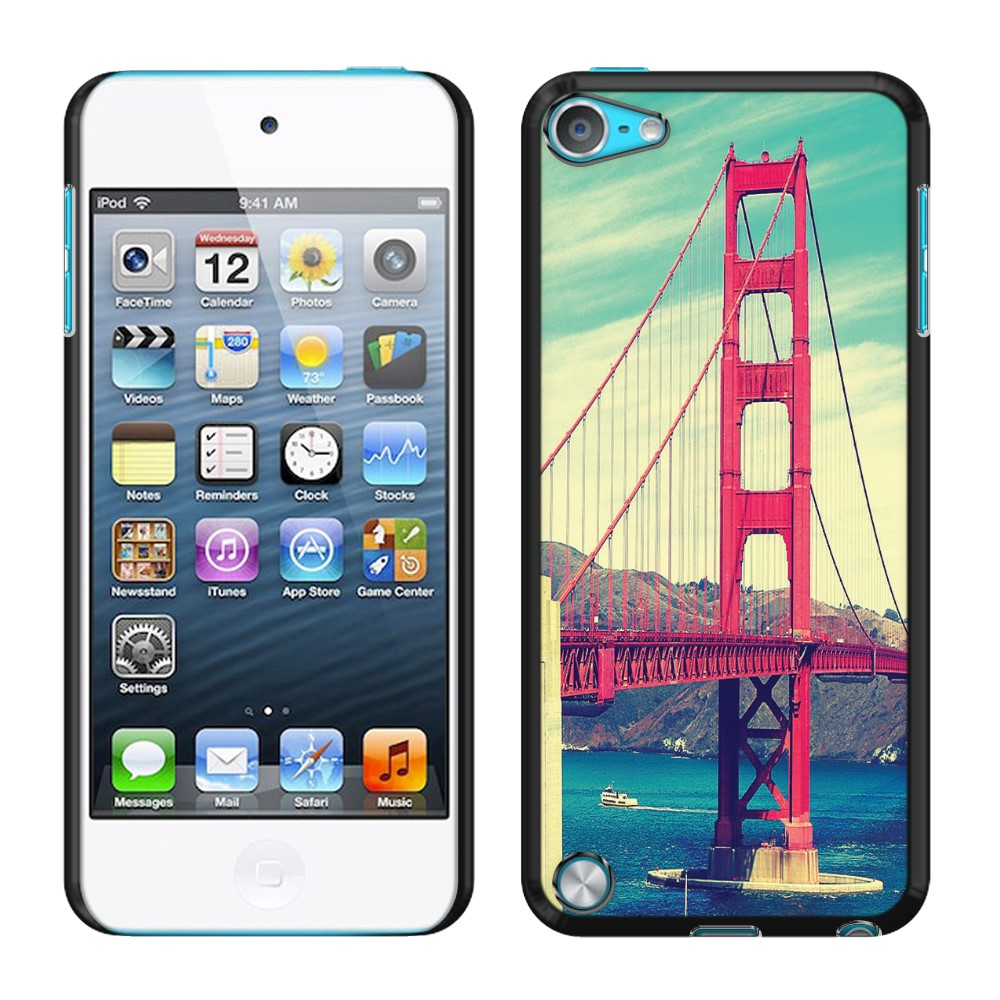 Apple iPod Touch 5 (5th Generation) iPod Touch 6 (6th Generation) Vintage Retro Golden Gate Bridge SLIM FIT Back Cover Case