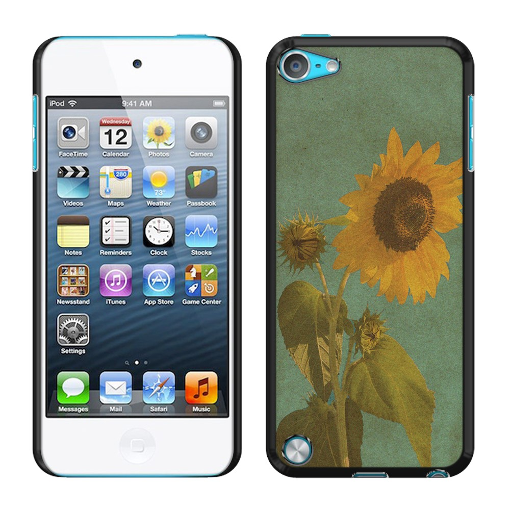 Apple iPod Touch 5 (5th Generation) iPod Touch 6 (6th Generation) Vintage Sunflower SLIM FIT Back Cover Case