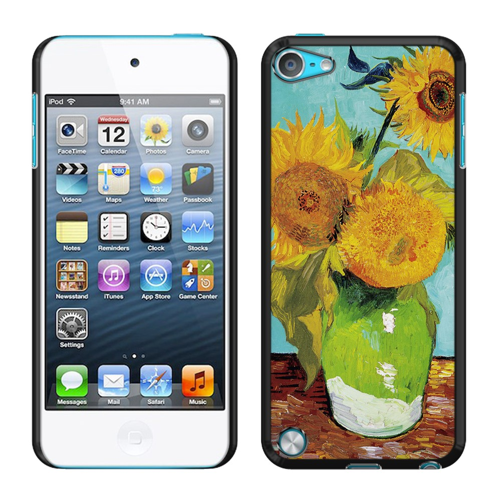 Apple iPod Touch 5 (5th Generation) iPod Touch 6 (6th Generation) Sunflowers Blue By Van Gogh Back Cover Case