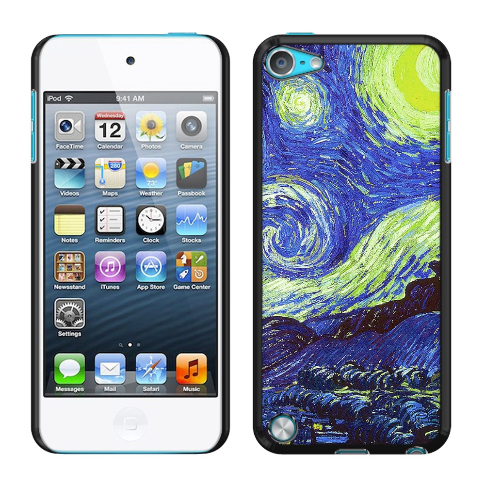 Apple iPod Touch 5 (5th Generation) iPod Touch 6 (6th Generation) The Starry Night Moon Van Gogh Back Cover Case