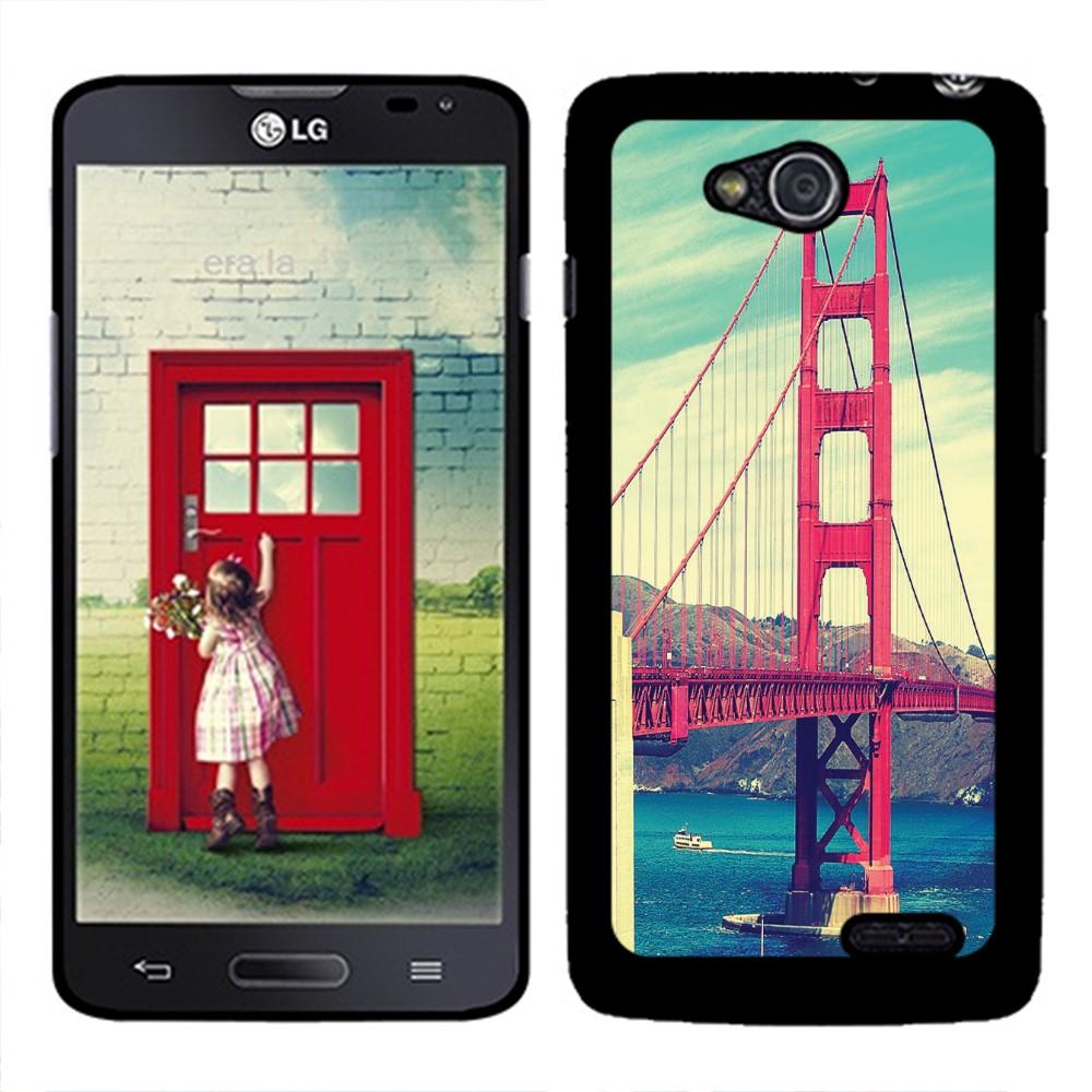 LG Optimus L90 D405 D415 Vintage Retro Golden Gate Bridge SLIM FIT Back Cover Case