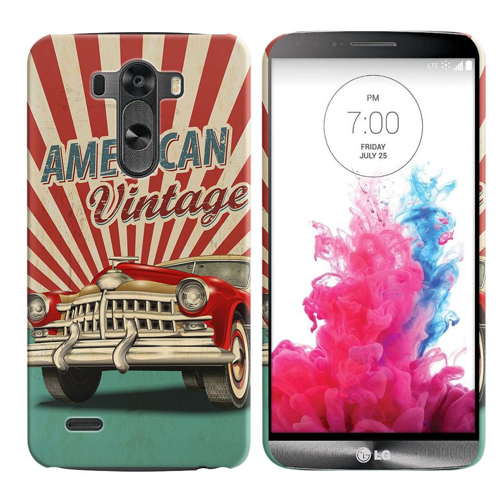 LG G3 D850 D851 LS990 VS985 D855 American Vintage Retro Car Back Cover Case