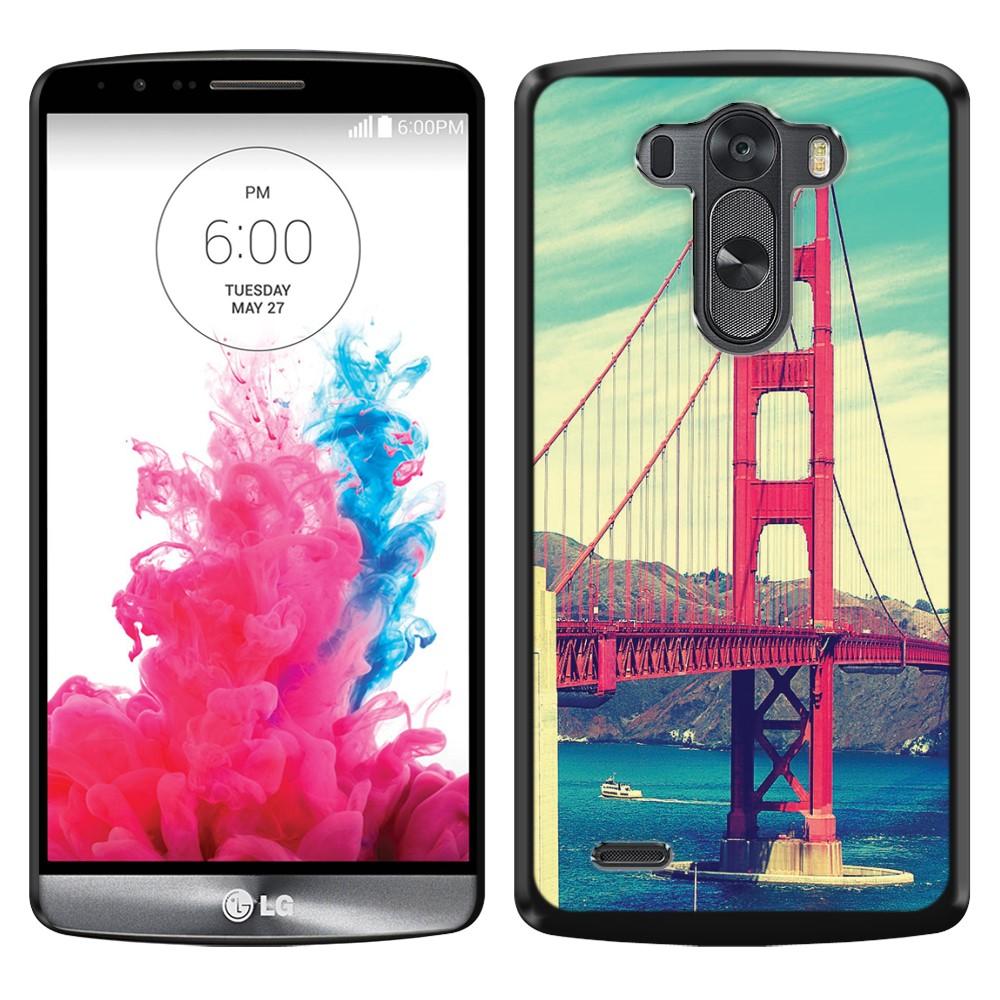 LG G3 D850 D851 LS990 VS985 D855 Vintage Retro Golden Gate Bridge SLIM FIT Back Cover Case