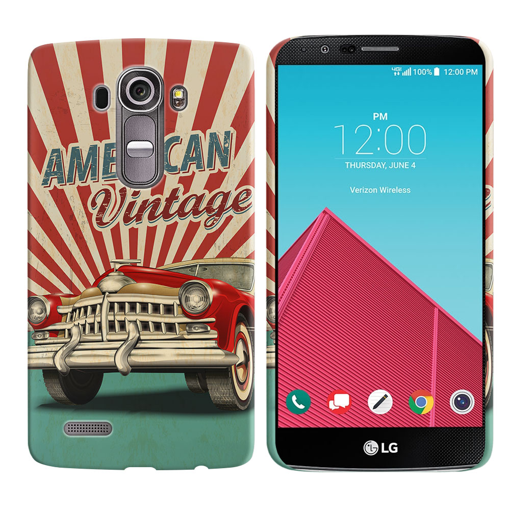 LG G4 H815 F500 VS986 H810 American Vintage Retro Car Back Cover Case