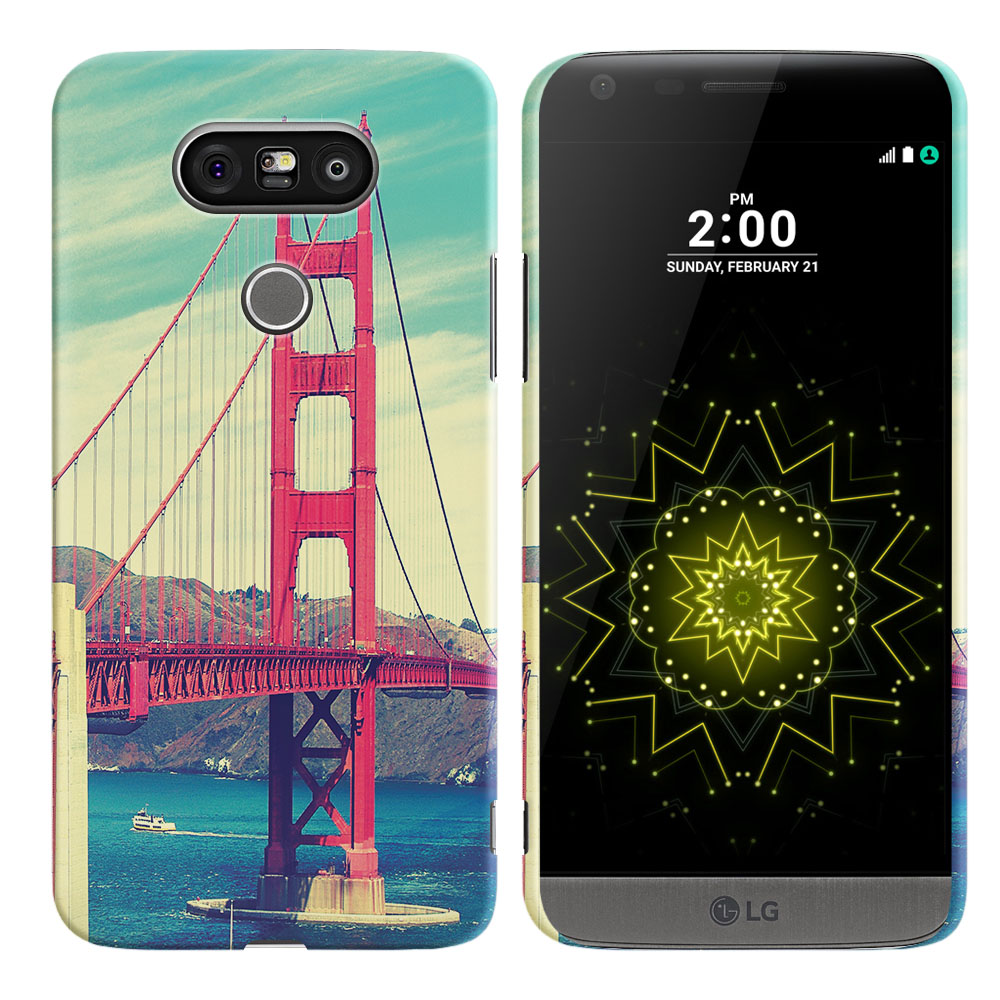 LG G5 H850 VS987 Vintage Retro Golden Gate Bridge Back Cover Case