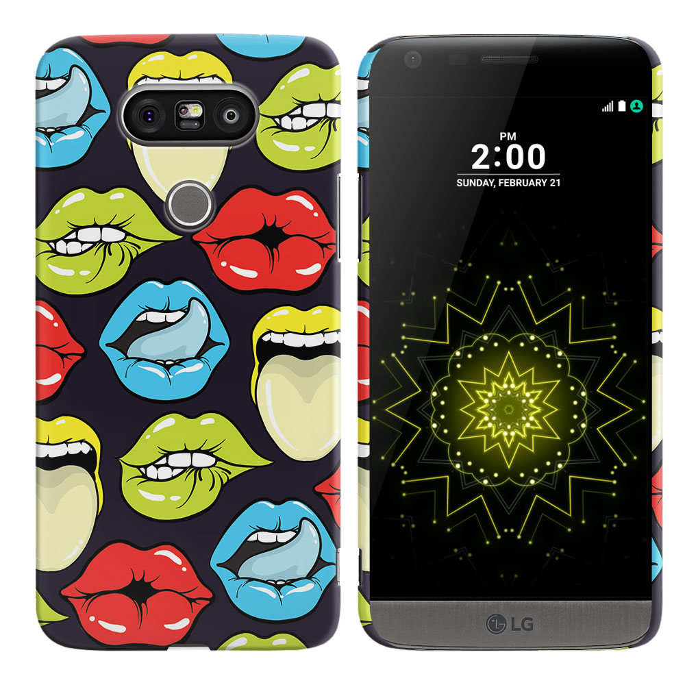 LG G5 H850 VS987 Pop Art Colored Lips Back Cover Case