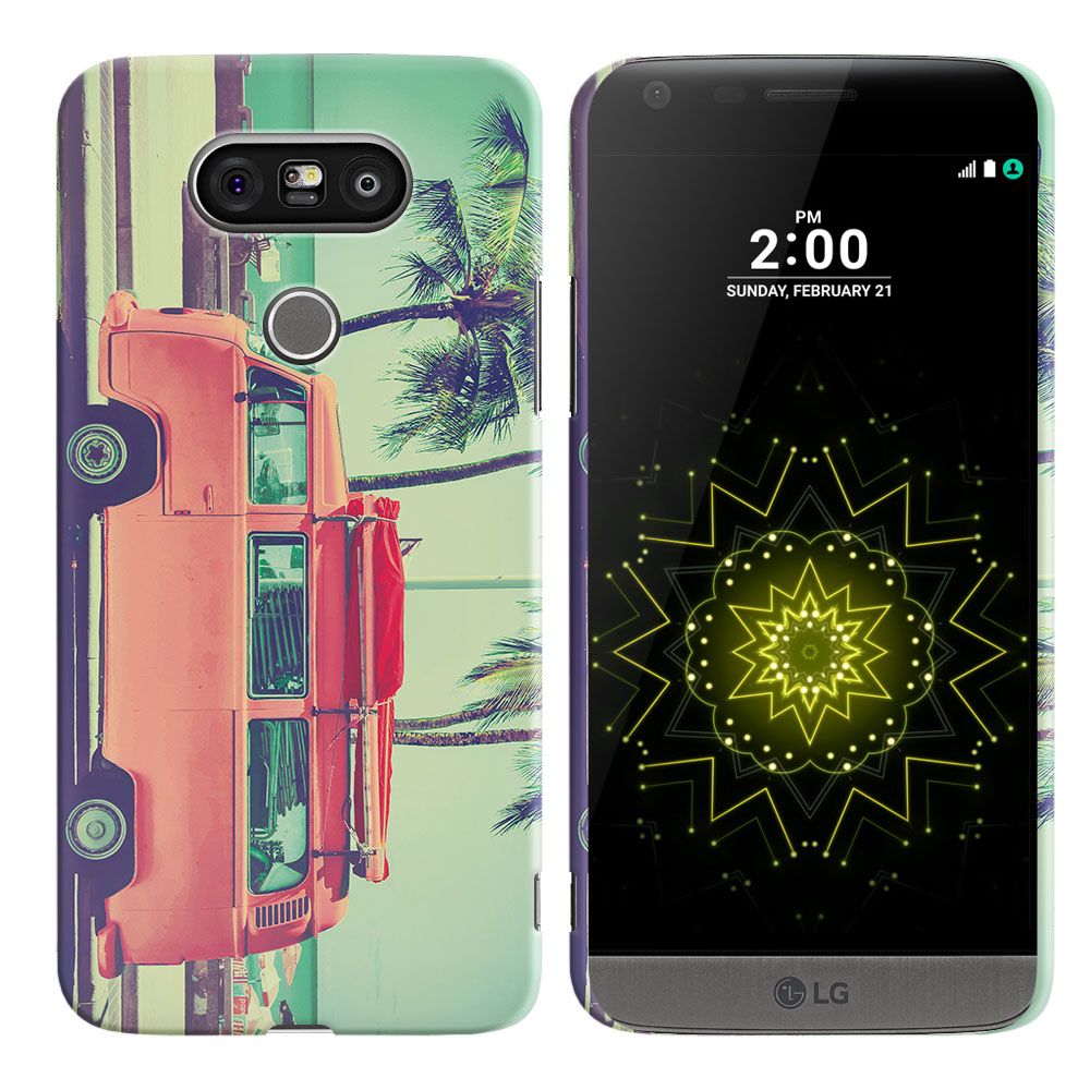 LG G5 H850 VS987 Vintage Retro Beach Car Back Cover Case