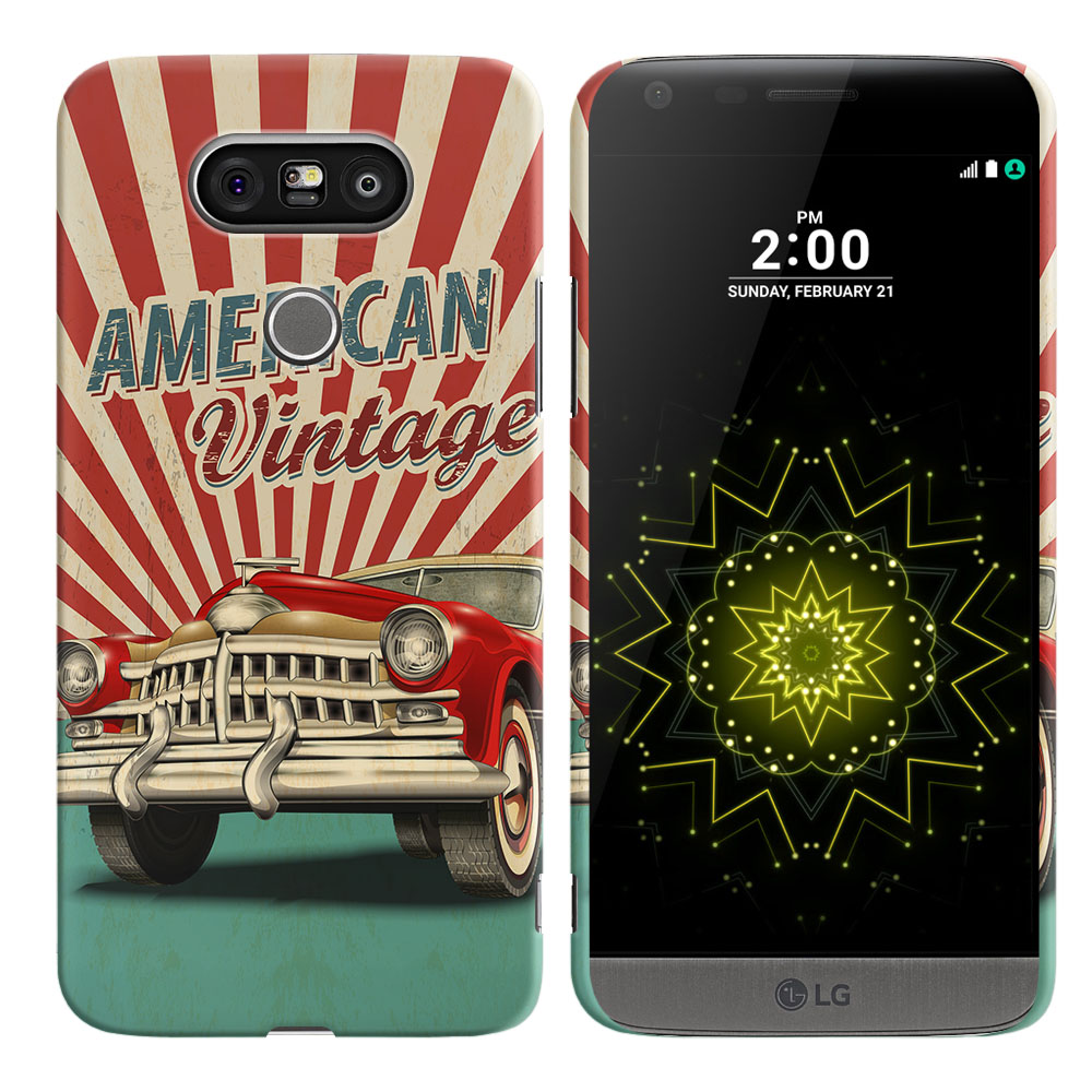 LG G5 H850 VS987 American Vintage Retro Car Back Cover Case