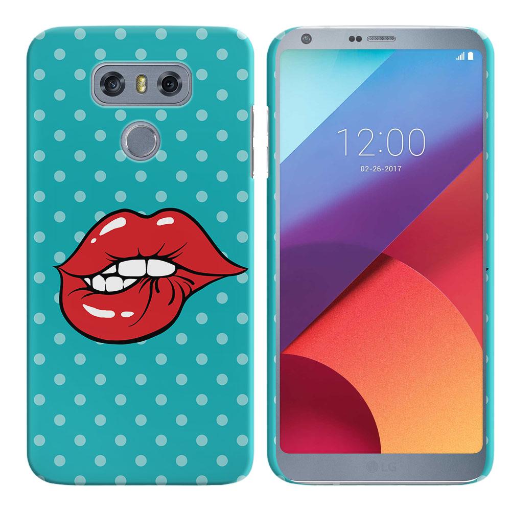 LG G6 H870 H871 H872 US997 LS993 VS998 AS993 Pop Art Biting Lips Back Cover Case