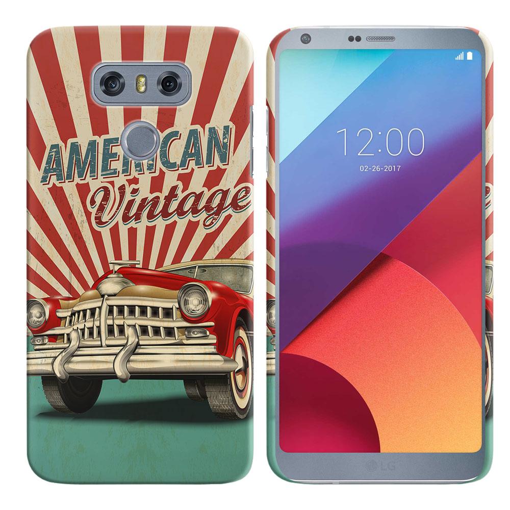 LG G6 H870 H871 H872 US997 LS993 VS998 AS993 American Vintage Retro Car Back Cover Case