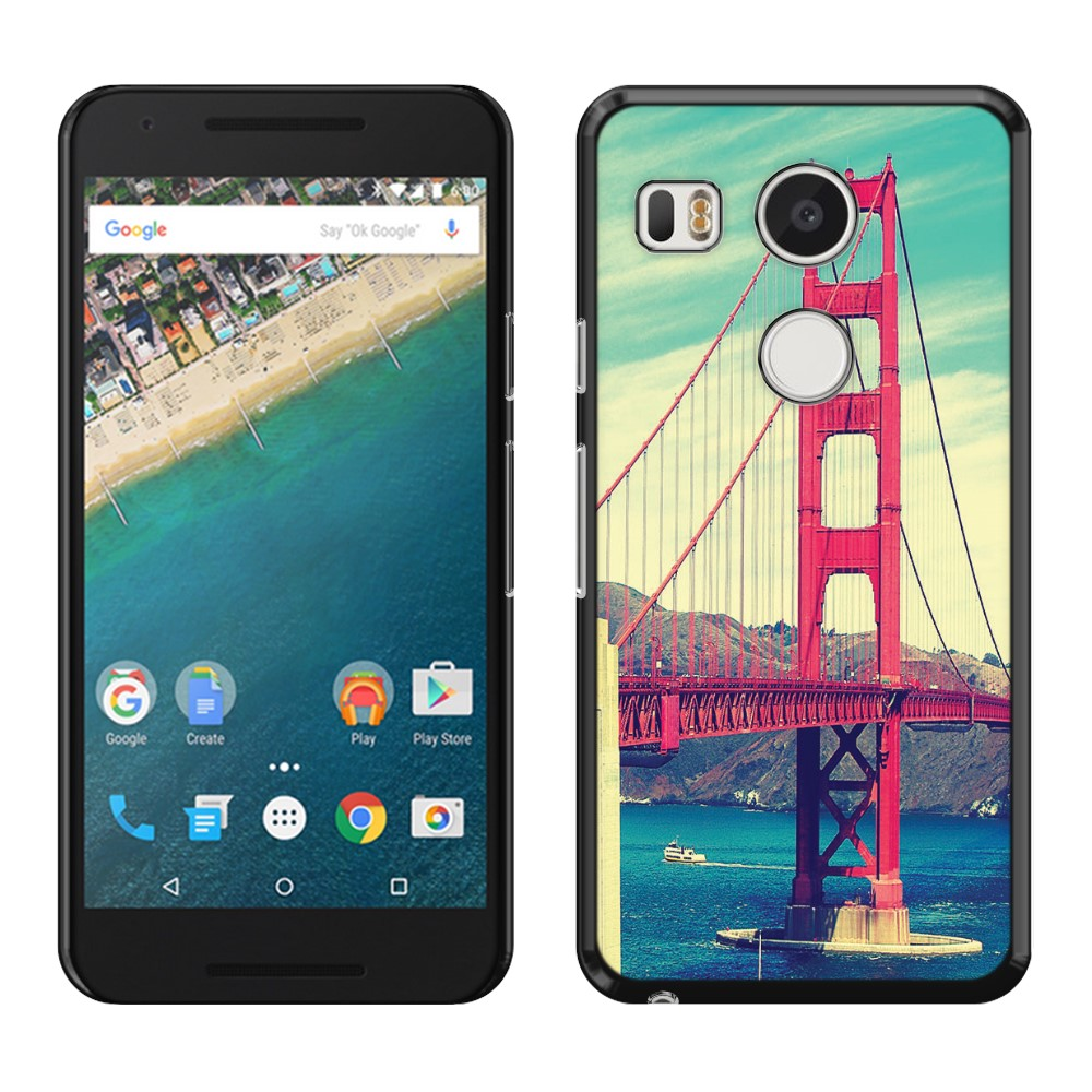 LG Google Nexus 5X Vintage Retro Golden Gate Bridge SLIM FIT Back Cover Case