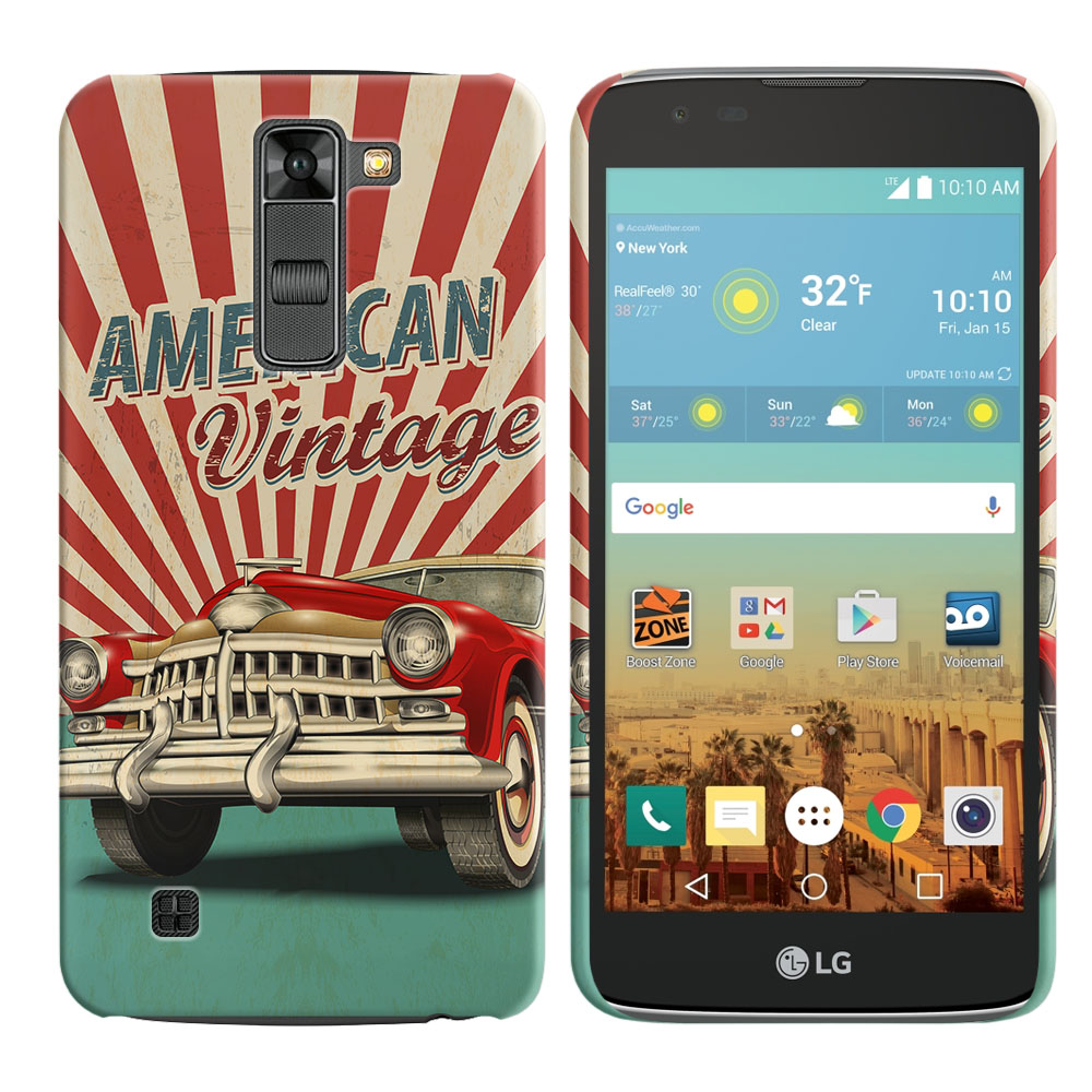 LG K7 Tribute 5 LS675 MS330 M1 Treasure L51AL L51VL L52AL L52VL American Vintage Retro Car Back Cover Case