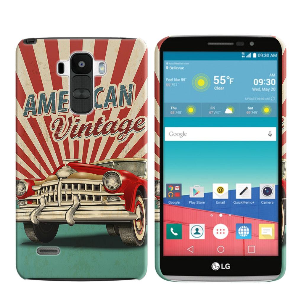 LG G Stylo LS770 G4 Note G Vista 2 H740 2nd 2015 American Vintage Retro Car Back Cover Case
