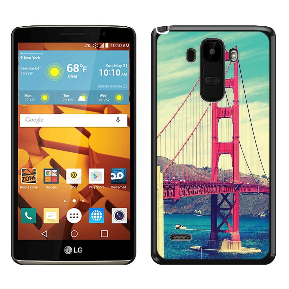 LG G Stylo LS770 G4 Note G Vista 2 H740 2nd 2015 Vintage Retro Golden Gate Bridge SLIM FIT Back Cover Case