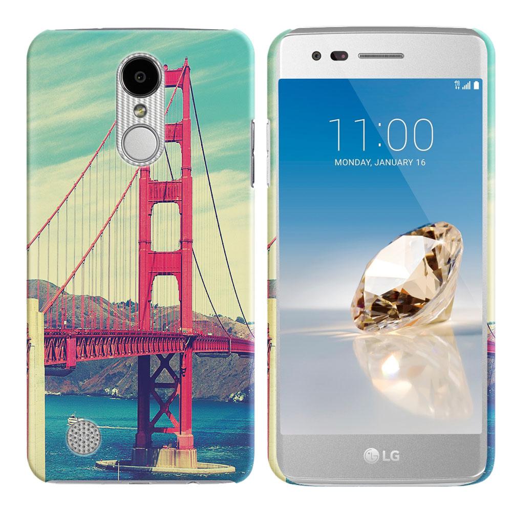 LG Aristo MS210 LV3 K8 (2017) Phoenix 3 M150 Fortune Vintage Retro Golden Gate Bridge Back Cover Case
