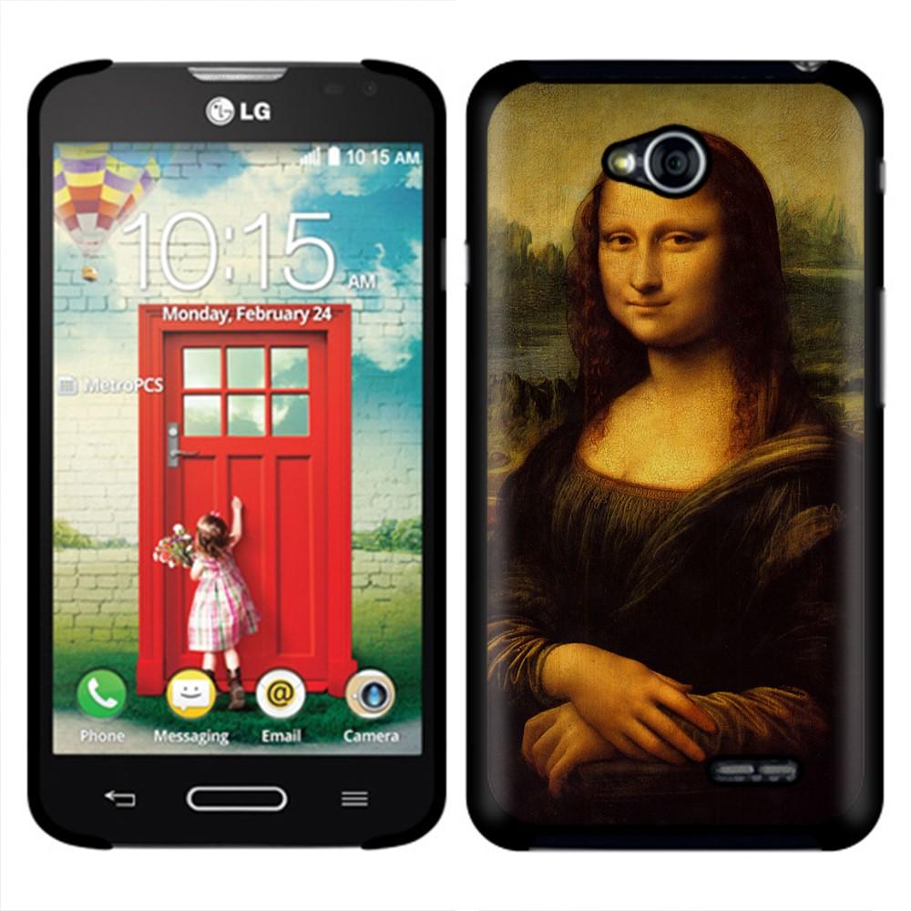 LG Optimus L70 MS323 Mona Lisa Leonardo Da Vinci Back Cover Case