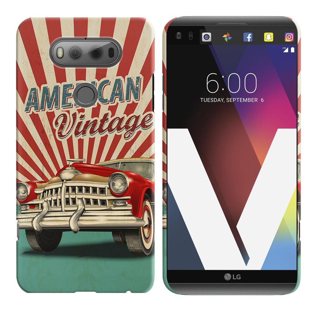 LG V20 VS995 H990 LS997 H910 H918 US996 American Vintage Retro Car Back Cover Case