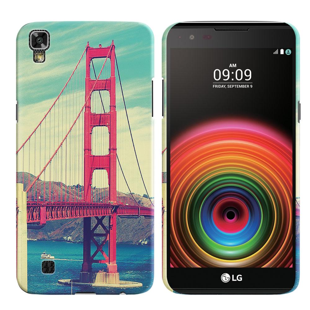 LG X Power K450 US610 LS755 K210 K6 K6P K220 Vintage Retro Golden Gate Bridge Back Cover Case