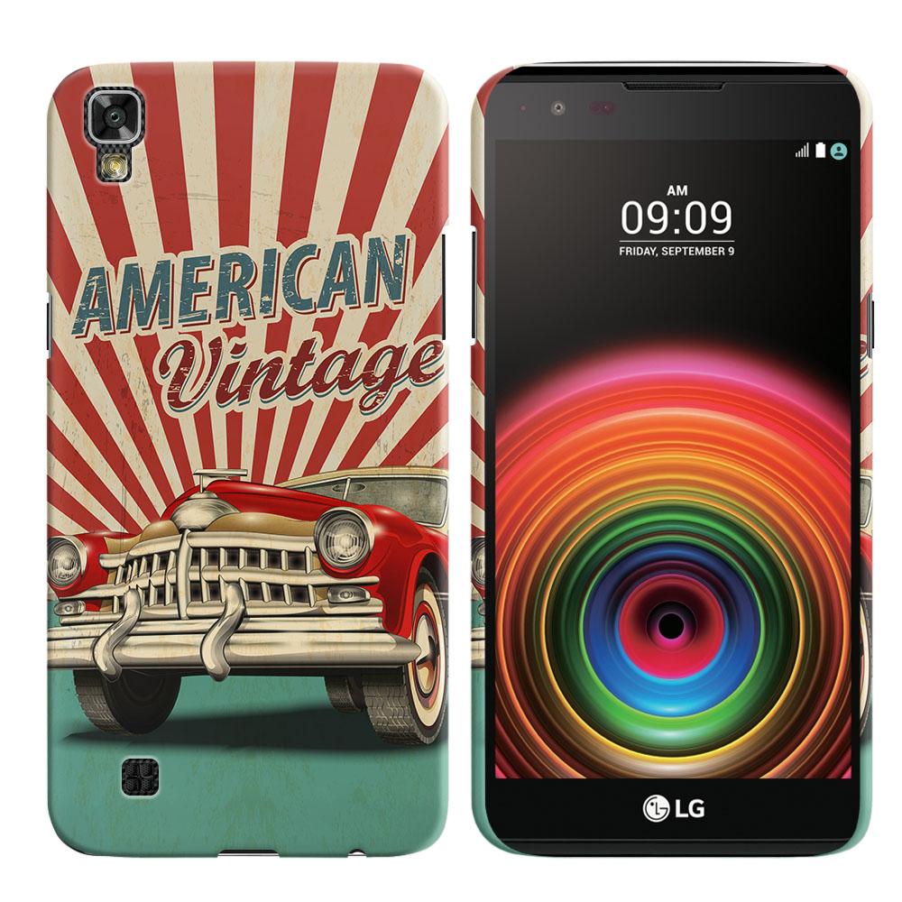 LG X Power K450 US610 LS755 K210 K6 K6P K220 American Vintage Retro Car Back Cover Case