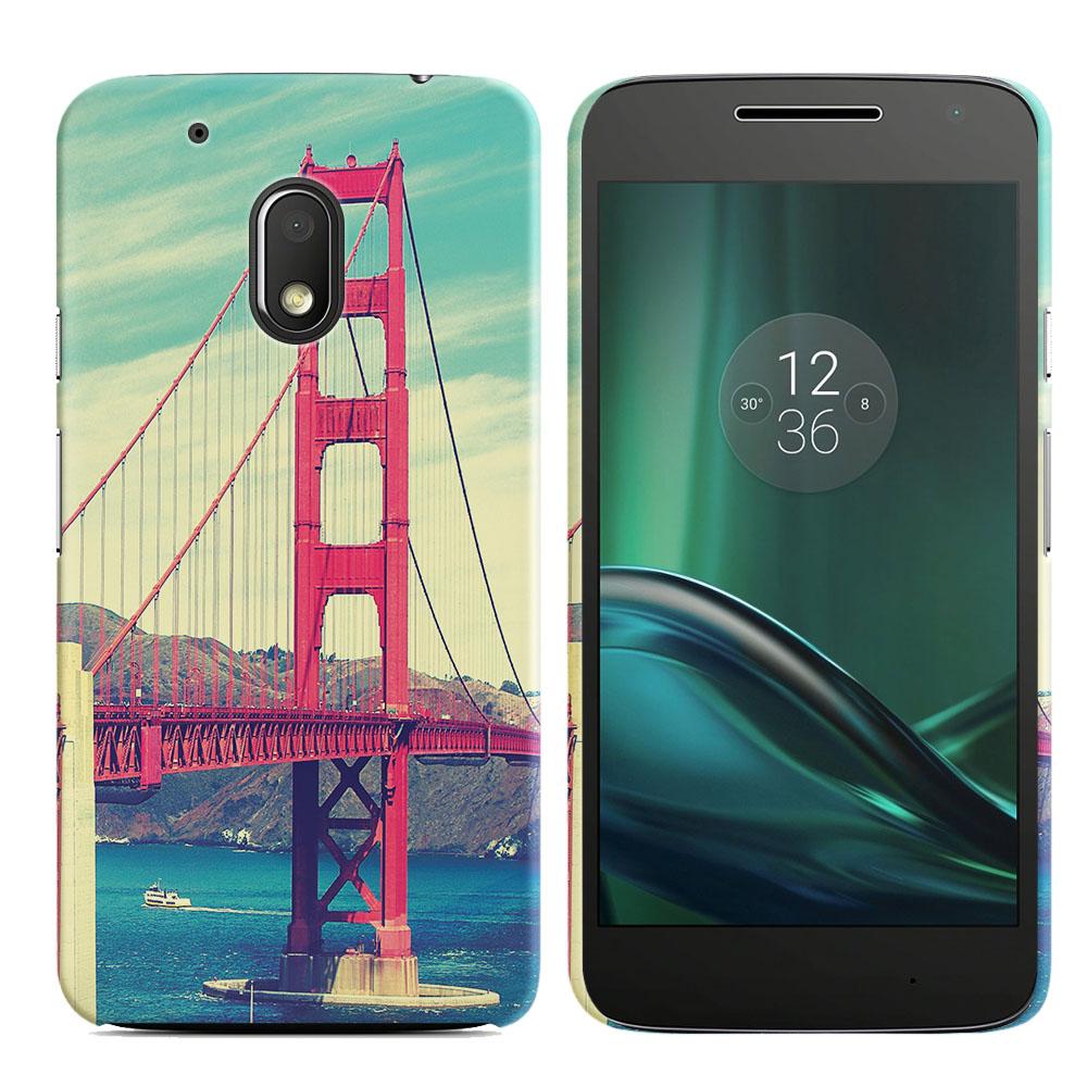 Motorola Moto G4 Play 5 inch XT1607 XT1609 Vintage Retro Golden Gate Bridge Back Cover Case
