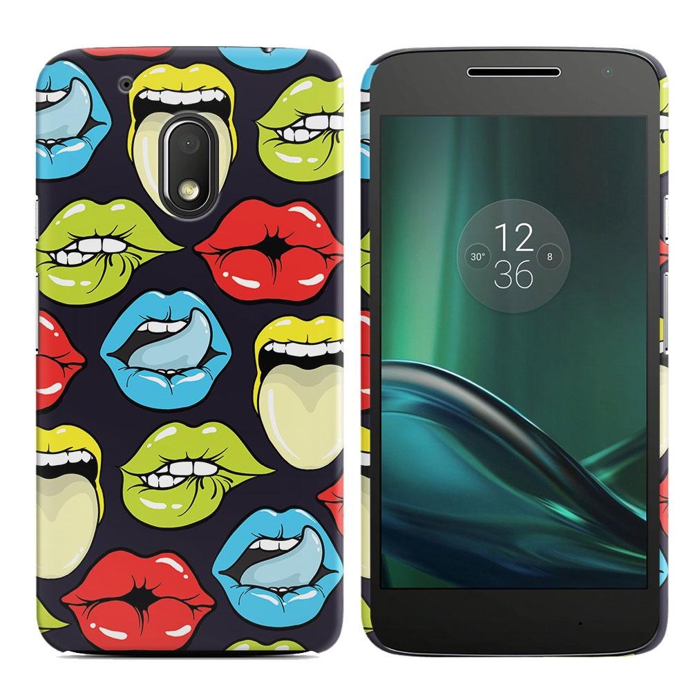 Motorola Moto G4 Play 5 inch XT1607 XT1609 Pop Art Colored Lips Back Cover Case