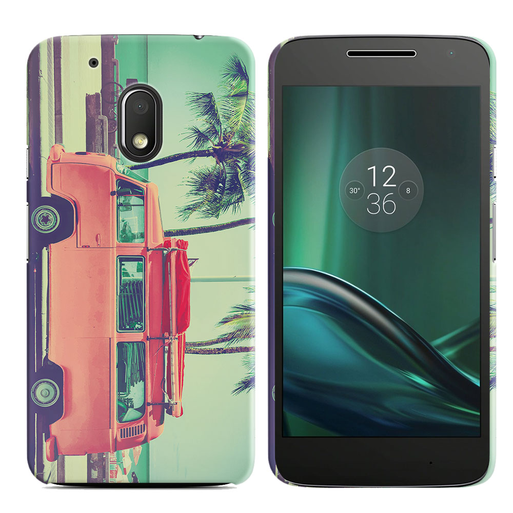 Motorola Moto G4 Play 5 inch XT1607 XT1609 Vintage Retro Beach Car Back Cover Case