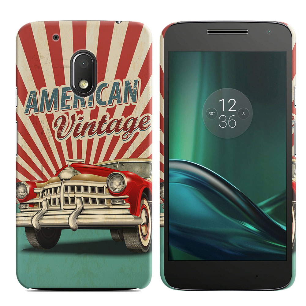 Motorola Moto G4 Play 5 inch XT1607 XT1609 American Vintage Retro Car Back Cover Case