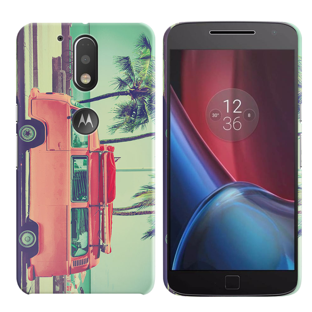 Motorola Moto G4/ G4 Plus 5.5 inch XT1625 XT1644 Vintage Retro Beach Car Back Cover Case