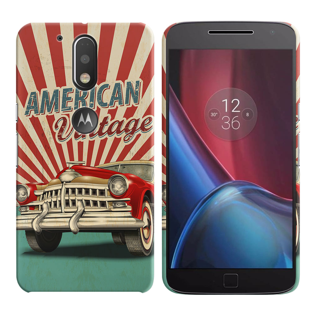 Motorola Moto G4/ G4 Plus 5.5 inch XT1625 XT1644 American Vintage Retro Car Back Cover Case