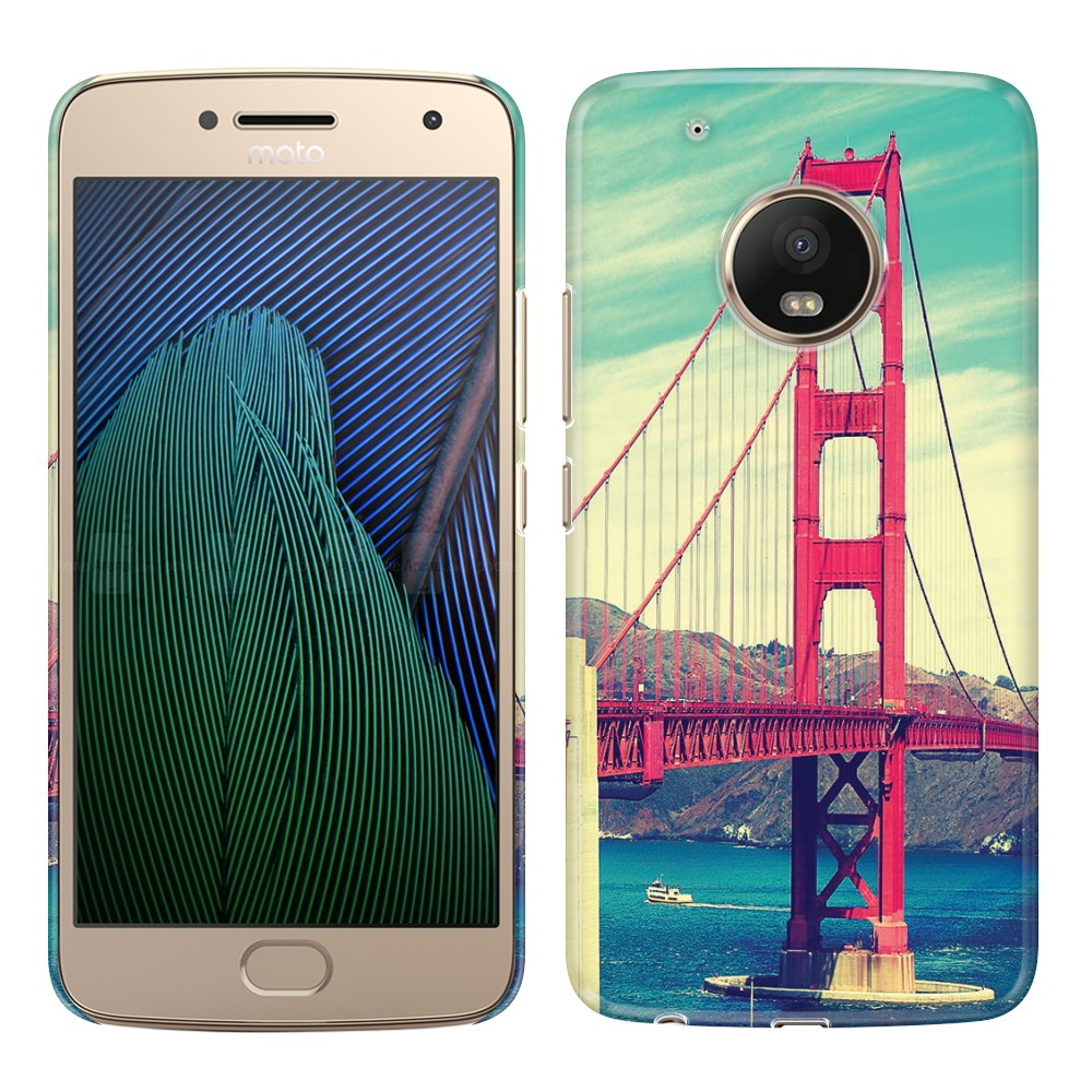Motorola Moto G5 Plus 5.2 inch Vintage Retro Golden Gate Bridge Back Cover Case