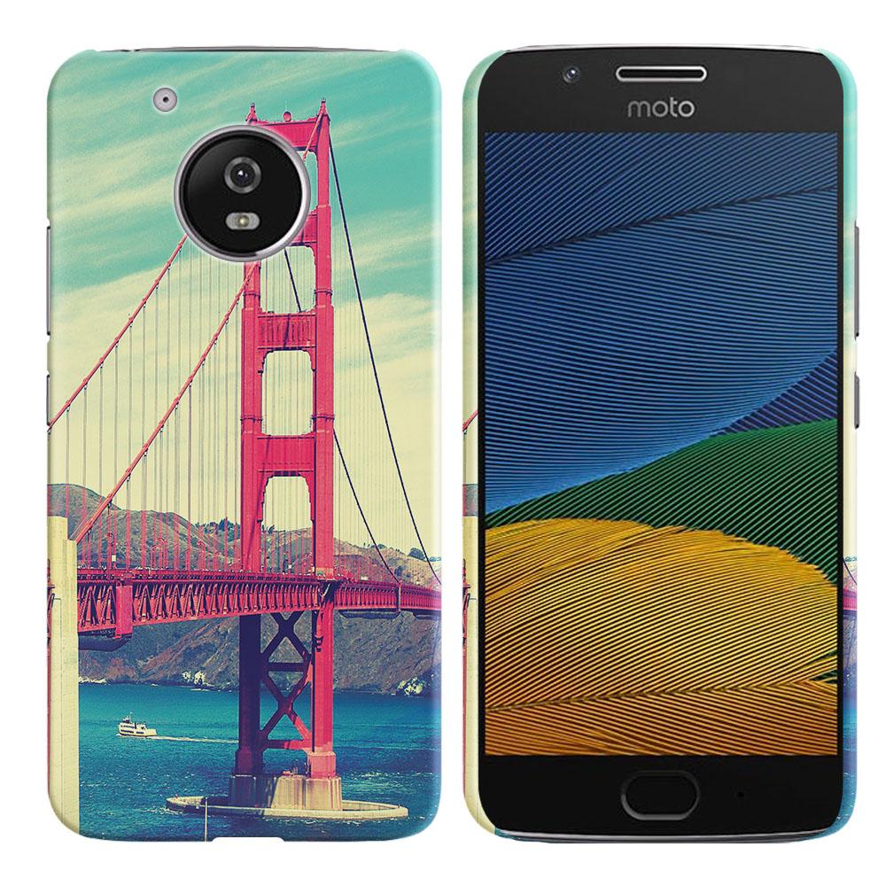 Motorola Moto G5 5 inch Vintage Retro Golden Gate Bridge Back Cover Case