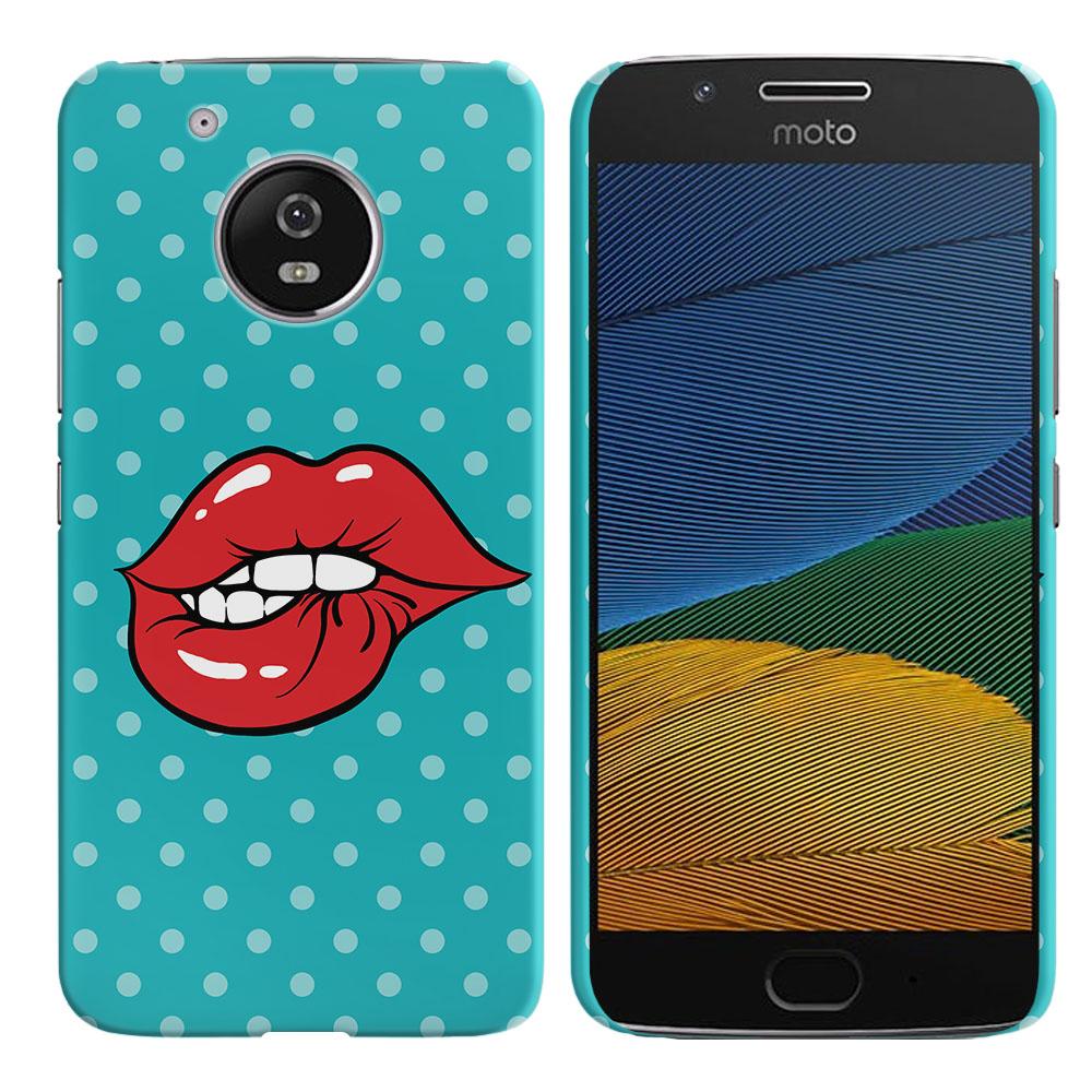 Motorola Moto G5 5 inch Pop Art Biting Lips Back Cover Case