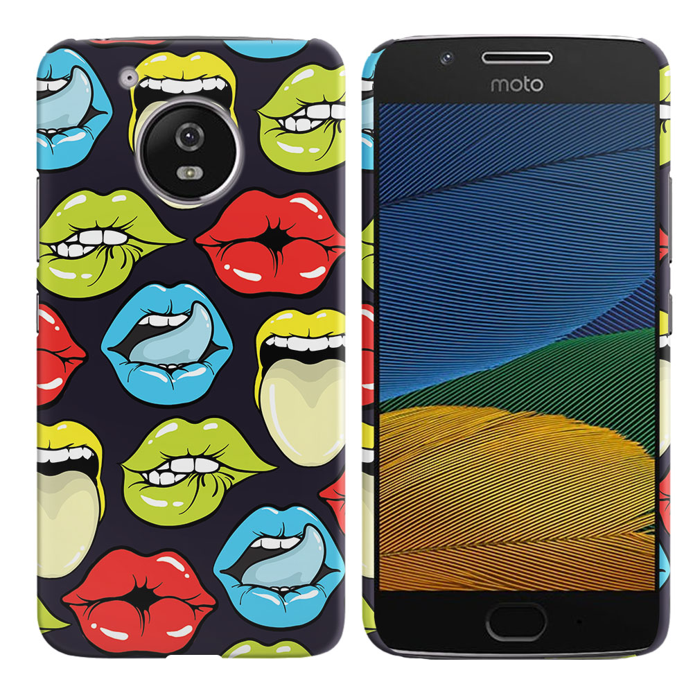 Motorola Moto G5 5 inch Pop Art Colored Lips Back Cover Case