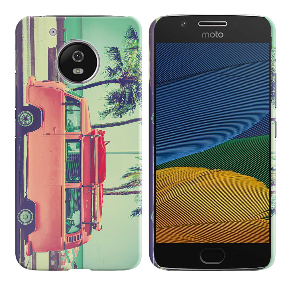Motorola Moto G5 5 inch Vintage Retro Beach Car Back Cover Case