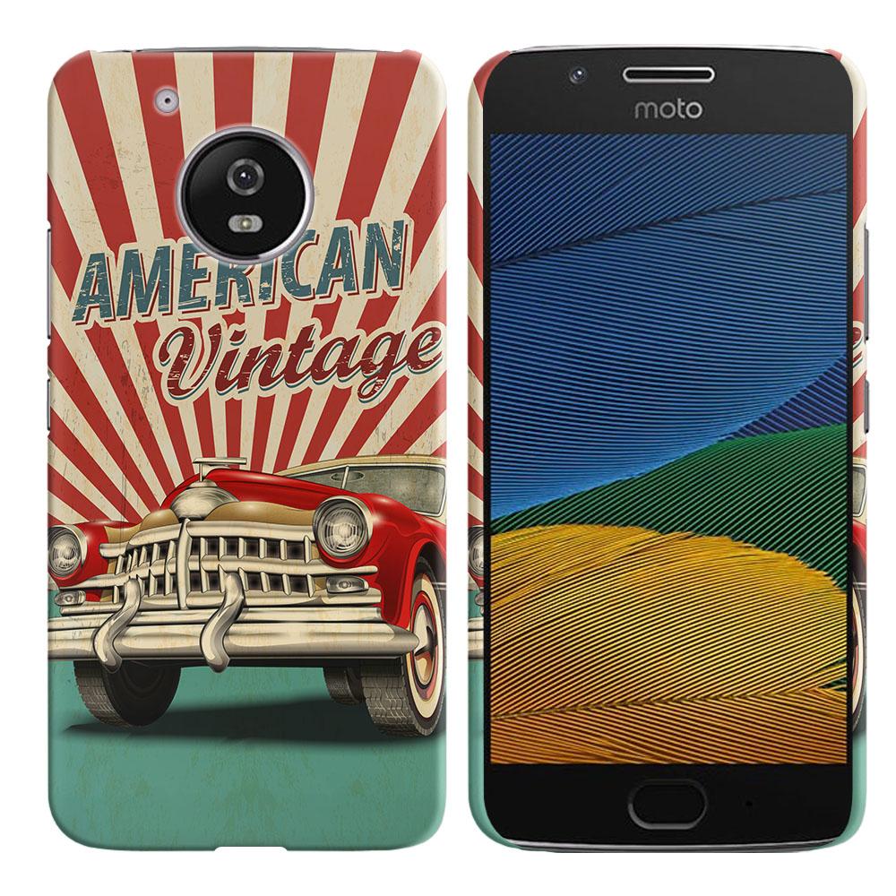 Motorola Moto G5 5 inch American Vintage Retro Car Back Cover Case