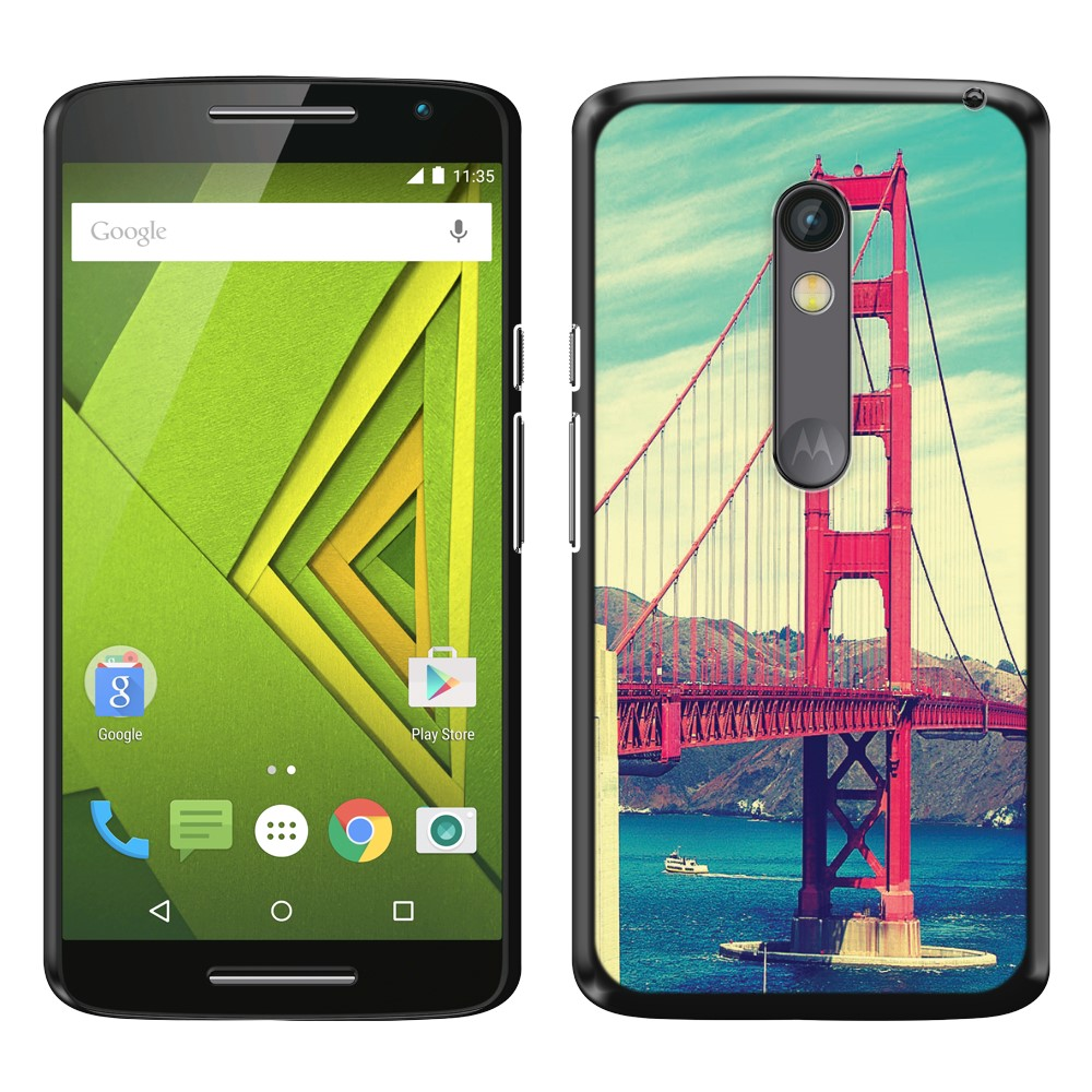 Motorola Moto X Play XT1562 Vintage Retro Golden Gate Bridge SLIM FIT Back Cover Case
