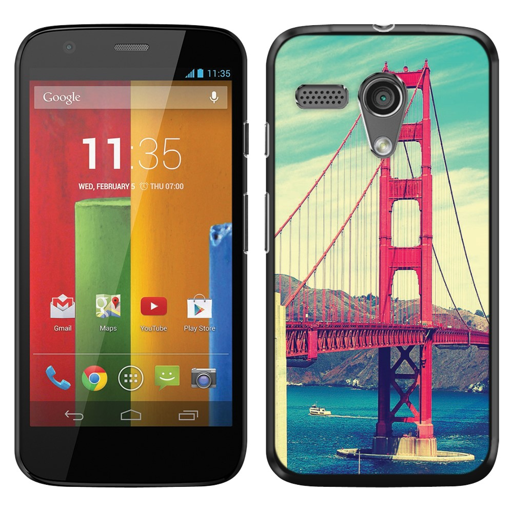 Motorola Moto G Falcon XT1032 Vintage Retro Golden Gate Bridge SLIM FIT Back Cover Case