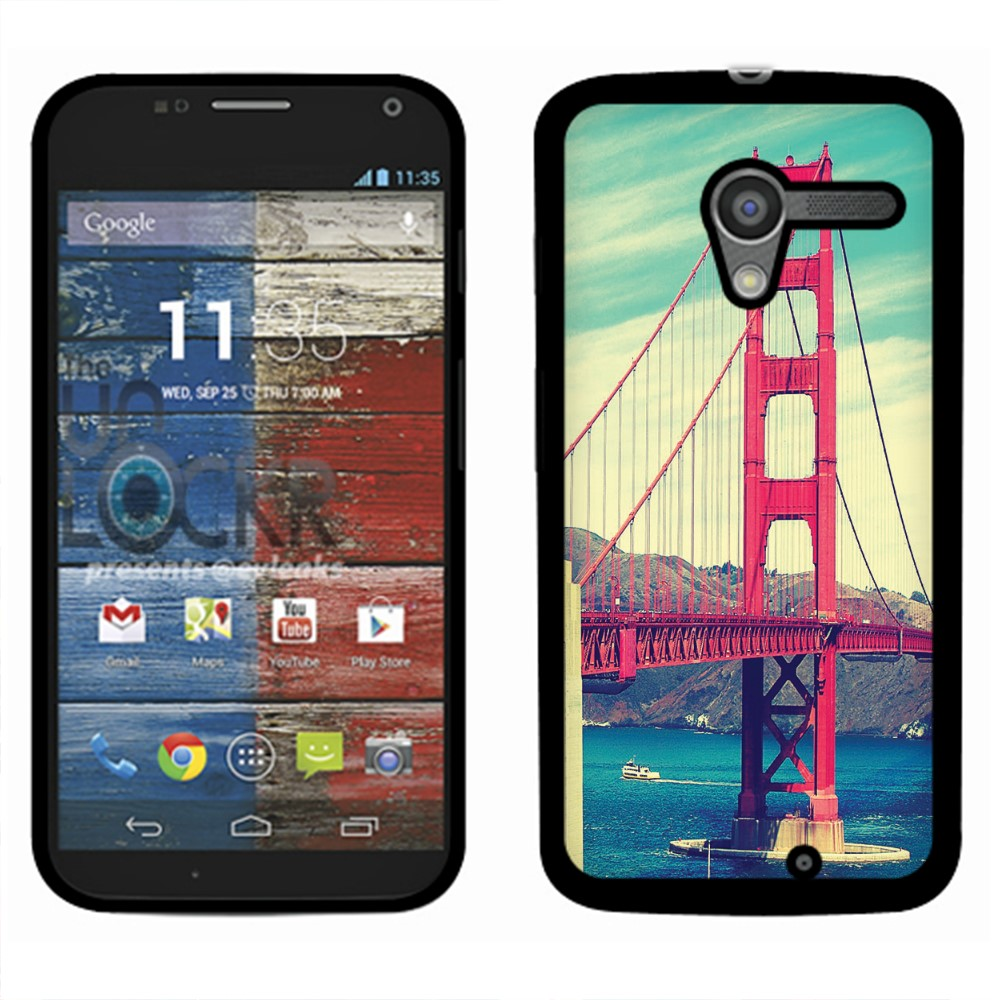 Motorola Moto X Phone XT1058 Vintage Retro Golden Gate Bridge SLIM FIT Back Cover Case