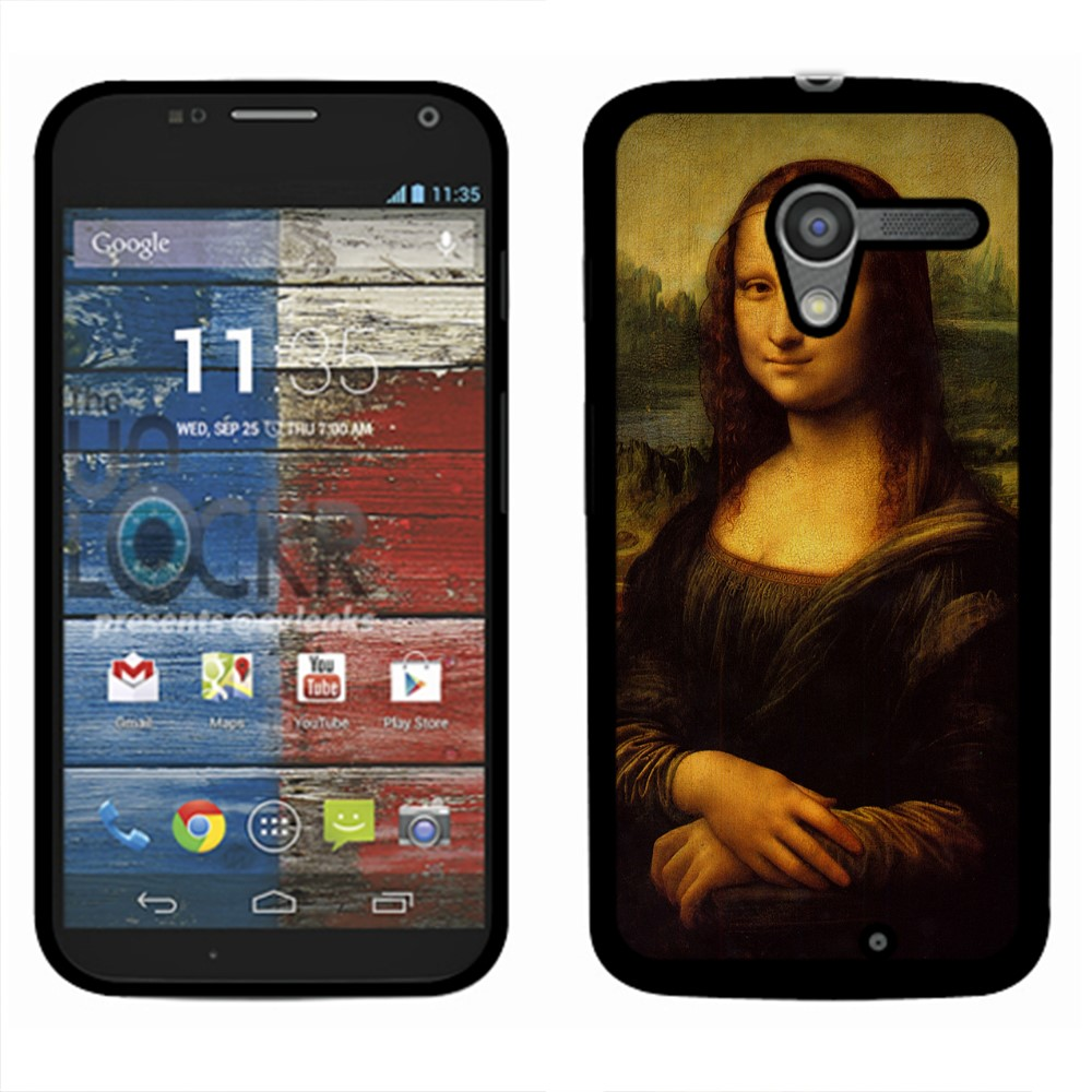 Motorola Moto X Phone XT1058 Mona Lisa Leonardo Da Vinci Back Cover Case