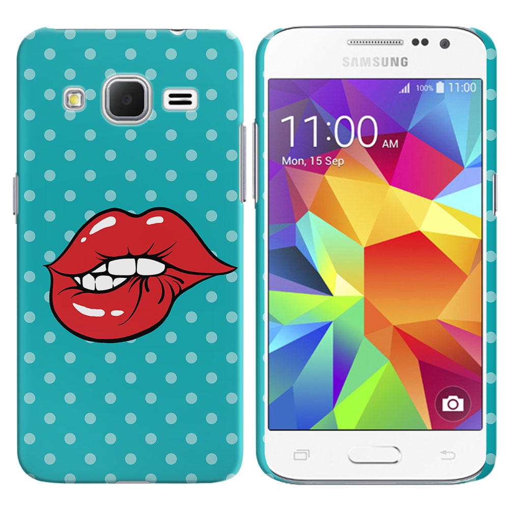 Samsung Galaxy Core Prime G360 Galaxy Prevail LTE Pop Art Biting Lips Back Cover Case