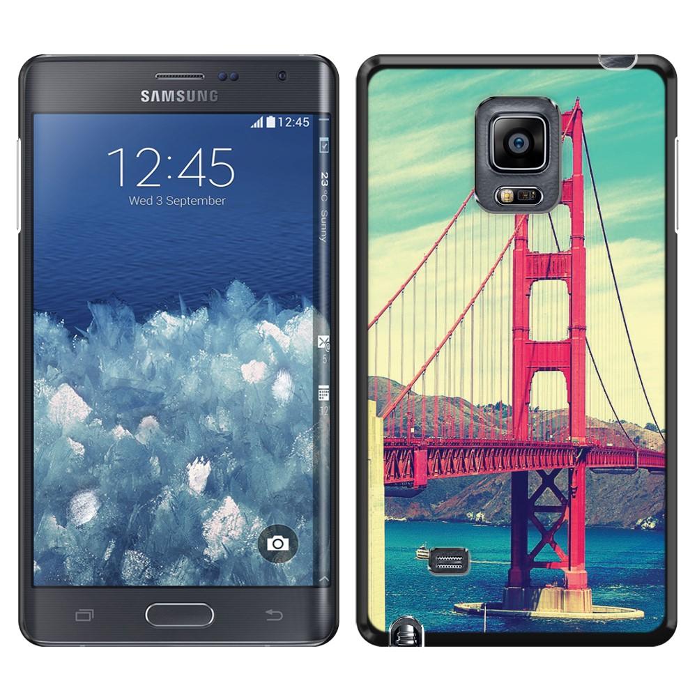 Samsung Galaxy Note Edge N915 Vintage Retro Golden Gate Bridge SLIM FIT Back Cover Case