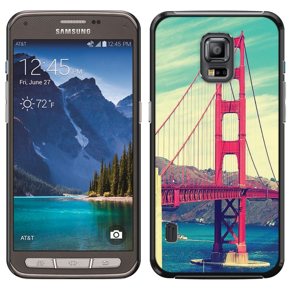 Samsung Galaxy S5 Active G870A Vintage Retro Golden Gate Bridge SLIM FIT Back Cover Case