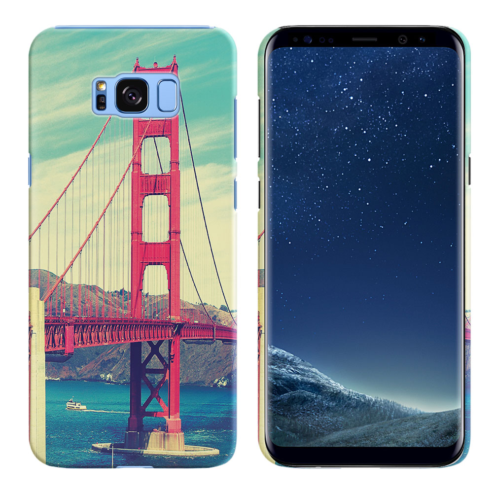 Samsung Galaxy S8 G950 Vintage Retro Golden Gate Bridge Back Cover Case