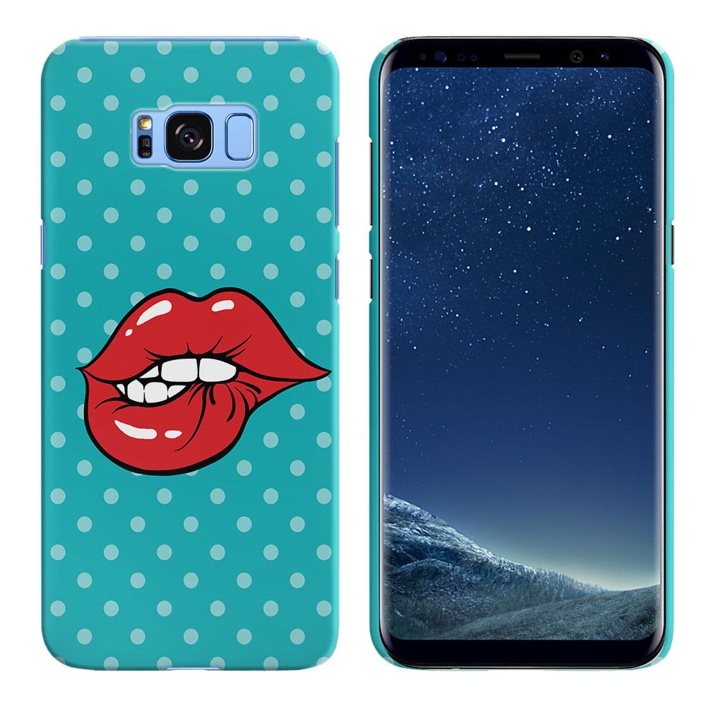 Samsung Galaxy S8 G950 Pop Art Biting Lips Back Cover Case